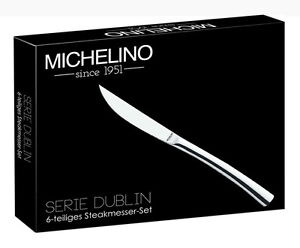 MICHELINO 6 x Luxus Steakmesser Steak-Messerset Pizza-Messer Pizzamesser-Set NEU