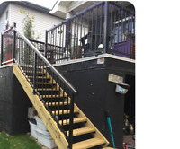 If you require the aluminum railings $34.99/F, supply and instal