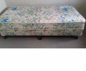 single bed + Mattress and bed side+free fan Kingswood Penrith Area Preview