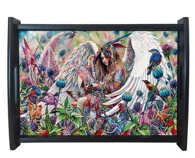 "Sanctuary Serving Tray by Sheila Wolk 13"" x 9"" Fairie, Fairy"