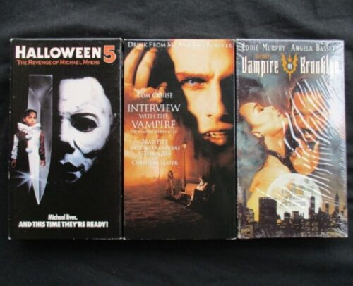 Lot of 3 HORROR VHS Halloween5, Interview with the Vampire & Vampire in Brooklyn