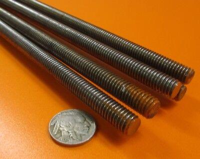 5//16-18 x 2.0 Foot Long Black Nylon 66 Threaded Rods RH 2 Units