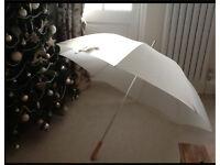 4 x Ivory Wedding Golf Umbrellas Bride Bridesmaids BRAND NEW & Unused!