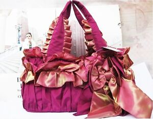 Beautiful red bowknot handmade ladies handbag,shoulder bag clutch purse tote