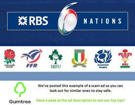 Wales vs Scotland - RBS Six Nations 2018 -- Read the ad description before replying!!
