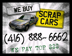 SCRAP CAR REMOVAL, CASH FOR CARS, TOP CASH FOR JUNK VEHICLES