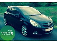 £151.44 PER MONTH BLACK 2009 VAUXHALL CORSA 1.6 VXR TURBO 3 DOOR PETROL MANUAL