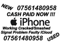 Wanted iPhone X, 8, 7, 6s, 6 Working Cracked/Smashed CASH PAID NOW