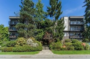 South facing, view condo in Lower Lonsdale with in-suite laundry