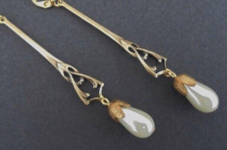 Art Nouveau Edwardian Art deco Bridal Earrings