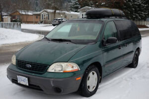 2002 Ford Windsti-van with 7 seats, And Camper Conversion