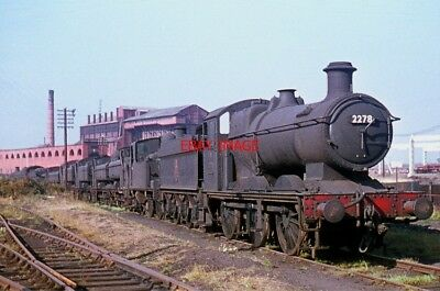 PHOTO  GWR. 2251 CLASS 0-6-0 2278 AT SWINDON ON THE 4TH OCTOBER  1959.
