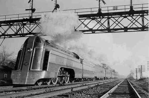 Reading Railroad Photo 1 Crusader Steam Locomotive Train 4-6-2 Pacific PRR