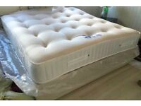 FREE LUXURY PILLOWS! BRAND NEW 1000 SPRUNG POCKET DELUXE MATTRESSES IN PACKAGING! CAN DELIVER TODAY