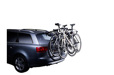 Thule ClipOn 9103 cycle carrier - note how the bikes obscure the number plate and lights.