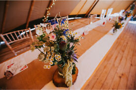 White table runners