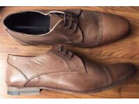 MENS RED HERRING DRESS CASUAL SHOES 8 BNWT LACE UPS TAN