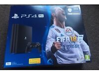 PS4 Pro Fifa 18 Bundle with Games