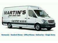 Removals, deliveries, single items, house clearance, 2 men and a van, storage