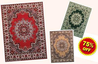 Medallion Rug - 5x7 Area Rug Traditional Oriental Persian Medallion Design NEW Carpet