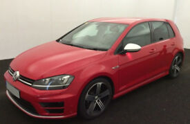 RED VOLKSWAGEN GOLF R 2.0 TSI 300 310 R 4MOTION DSG FROM £88