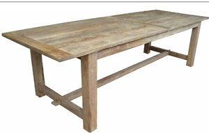 Rustic Recycled ELM Wood French Rustic Farm House Dining Table 240 Long EBay