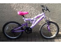 "Bike/Bicycle.GIRLS AVIGO "" INDIGO "" MOUNTAIN BIKE. SUIT 6-9 YEARS"