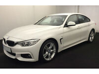 White BMW 420d coupe 2015 M Sport Auto FROM £109 PER WEEK!