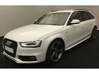 White AUDI A4 AVANT ESTATE 1.8 2.0 TDI Diesel BLACK EDITION FROM £77 PER WEEK!