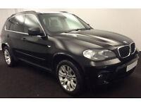 Black BMW X5 3.0TD 4X4 Auto 2012 xDrive30d M Sport FROM £51 PER WEEK!