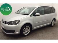 ONLY £189.08 PER MONTH SILVER 2011 VOLKSWAGEN TOURAN 1.6 SE MANUAL 7 SEATER
