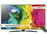 "LG 43"" 4K UHD HDR SMART WI-FI TV."