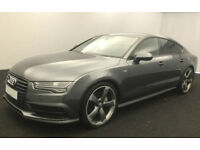 Grey AUDI A7 HATCHBACK 3.0 TDI Diesel SPORT S LINE FROM £135 PER WEEK!