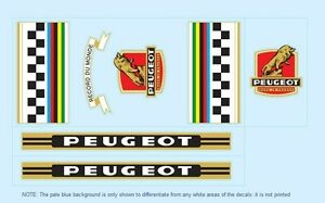 Peugeot Bicycle Decals-Transfers-Stickers #1