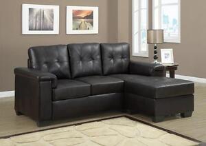 Sofa en l cuir blanc meubles dans qu bec petites for Meuble en gros longueuil