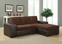 sofa modulaire en tissue en liquidation en 2 couleurs