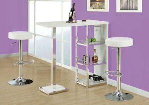 BARSTOOL IN WHITE LEATHER FOR ONLY 75$ EACH