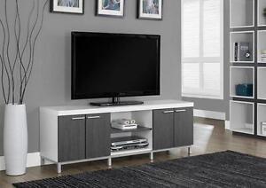 """$279 - CONSOLE TV 60""""L BLANC / GRIS"""