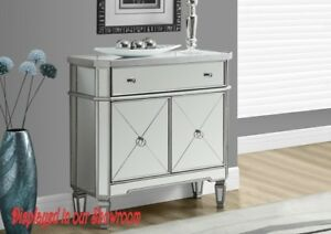 MIRRORED CHEST OR HALL COUNCEL WITH DRAWERS & 2 DOORS