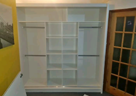 💥💯HUGE SAVINGS 2 AND 3 MIRRORED DOORS SLIDING WARDROBES WITH SHELVES
