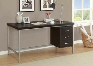 "LORD SELKIRK FURNITURECOMPUTER DESK HOLLOW-CORE / SILVER METAL 60""L OFFICE DESK - 60""L x  $209.00"
