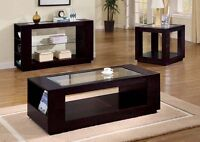 COFFEE TABLE IN REAL WOOD CAPUCCINO COLOR FOR ONLY 199$