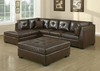 CLEARANCE NEW LEATHER SECTIONALS!
