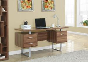 "VENTE BUREAU - 60""L / METAL ARGENT / NOYER 60% OFF"