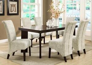 $999 - DARK ESPRESSO TABLE with 6 CHAIRS -- FREE DELIVERY