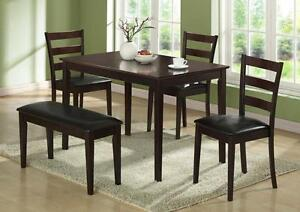 $389 - CAPPUCCINO 5PCS DINING SET.