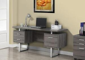 CAPPUCCINO / SILVER METAL 60L OFFICE DESK
