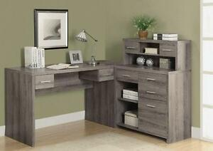 $379 - 3 colors  L SHAPED HOME OFFICE DESK