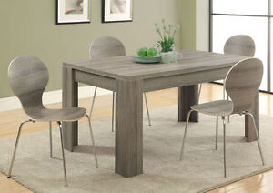 LORD SELKIRK FURNITURE-DARK TAUPE RECLAIMED-LOOK -5PC DINING SET