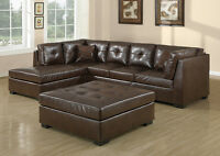 849$ **  DARK BROWN SOFA BONDED LEATHER === FREE DELIVERY